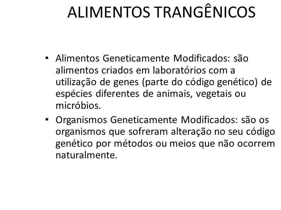 ALIMENTOS TRANGÊNICOS