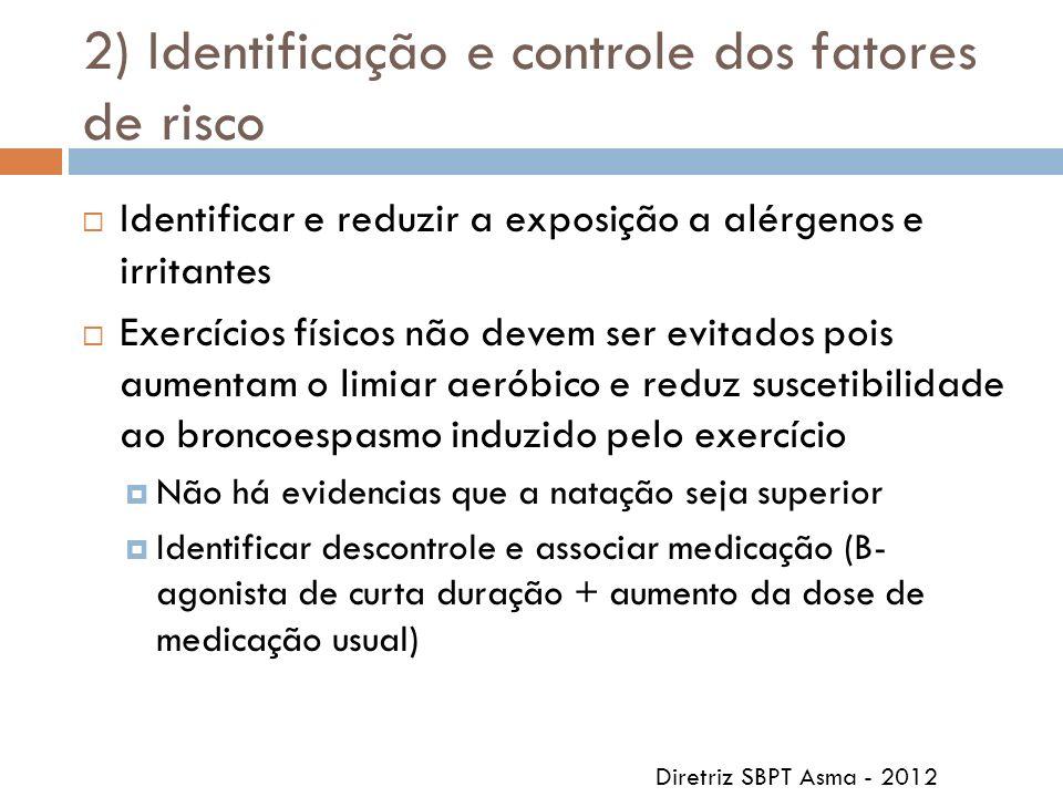 2) Identificação e controle dos fatores de risco