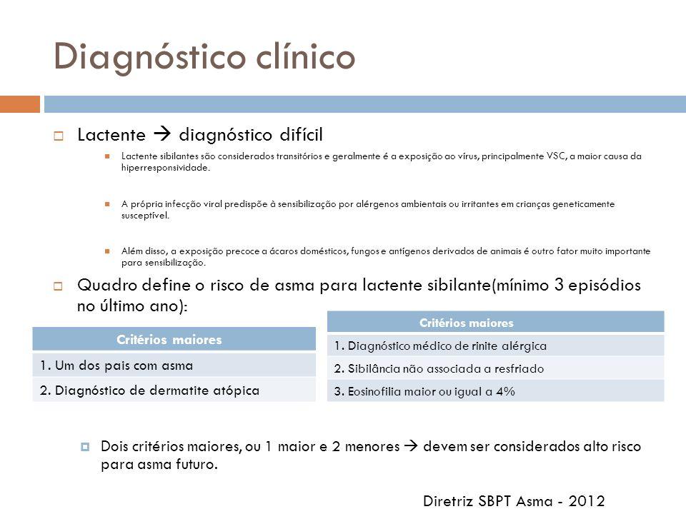 Diagnóstico clínico Lactente  diagnóstico difícil