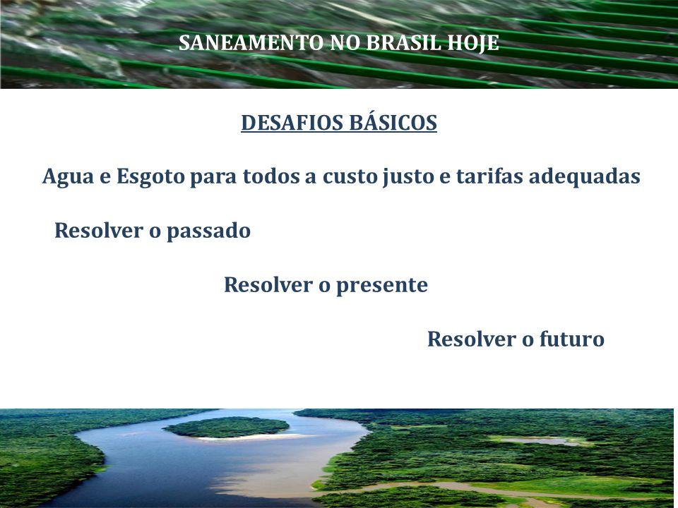 SANEAMENTO NO BRASIL HOJE
