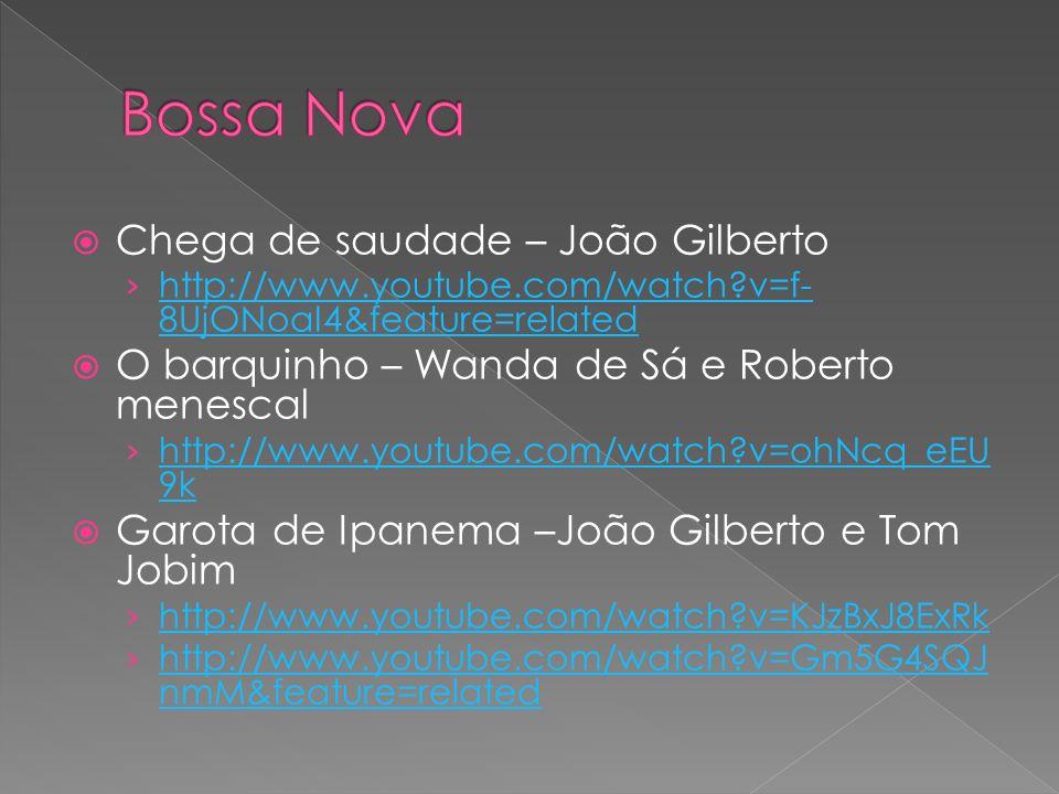 Bossa Nova Chega de saudade – João Gilberto