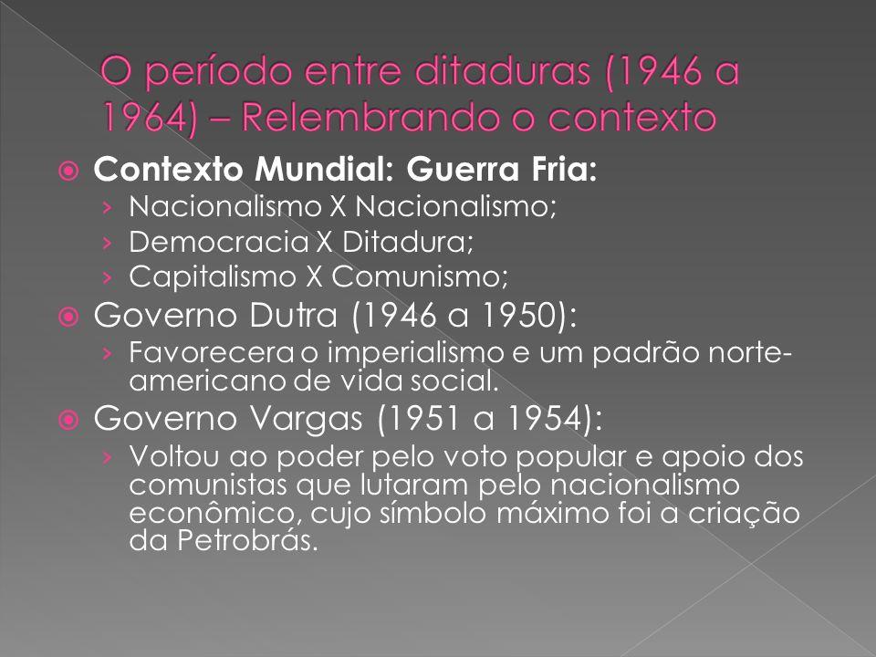 O período entre ditaduras (1946 a 1964) – Relembrando o contexto