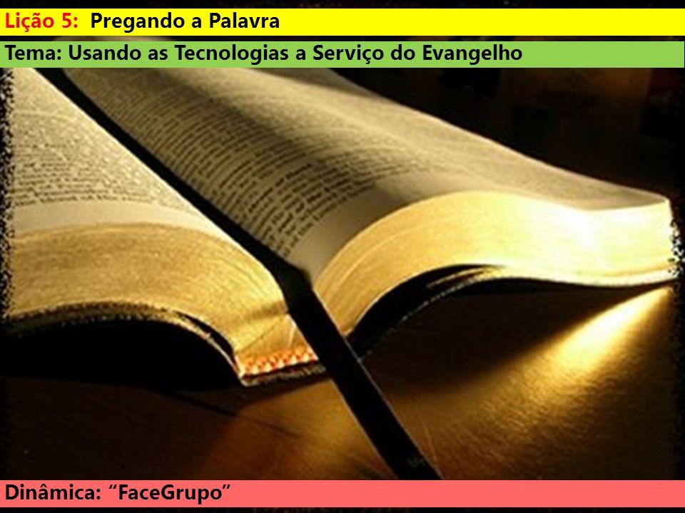 Lição 5: Pregando a Palavra