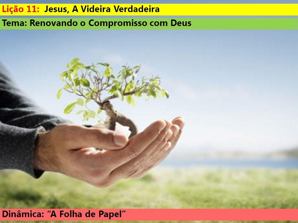 Lição 11: Jesus, A Videira Verdadeira