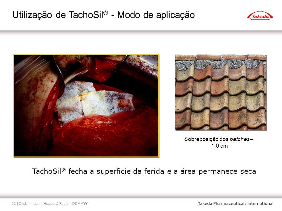 Utilização de TachoSil® - Modo de aplicação