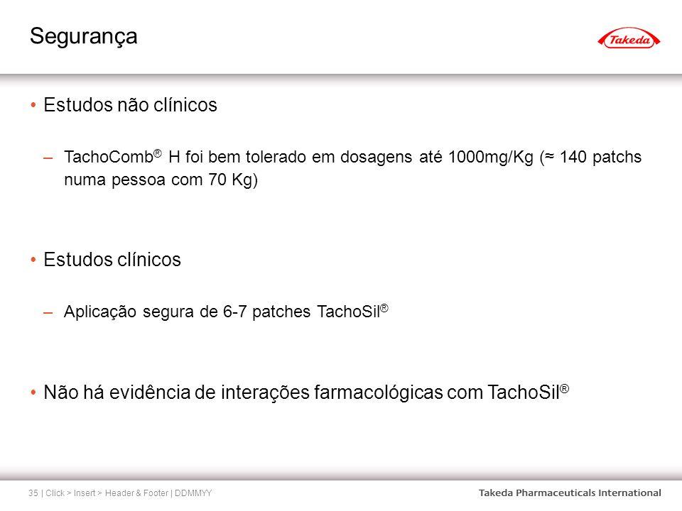 Segurança Estudos não clínicos Estudos clínicos