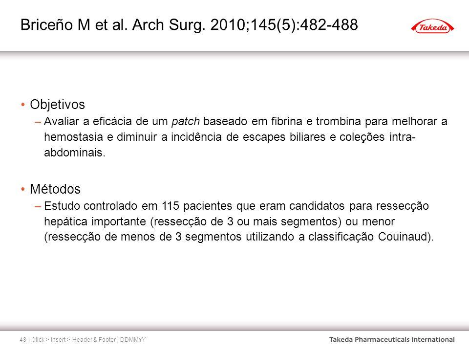 Briceño M et al. Arch Surg. 2010;145(5):482-488