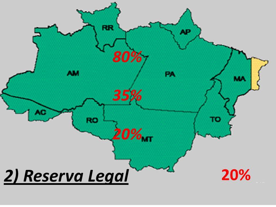 80% 35% 20% 35% 20% 2) Reserva Legal 20% 20%