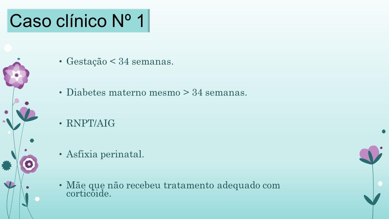 Caso clínico Nº 1 Gestação < 34 semanas.