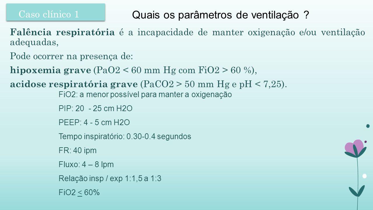 Quais os parâmetros de ventilação