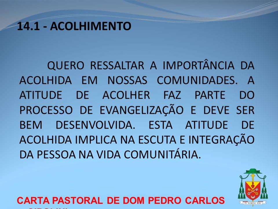 14.1 - ACOLHIMENTO