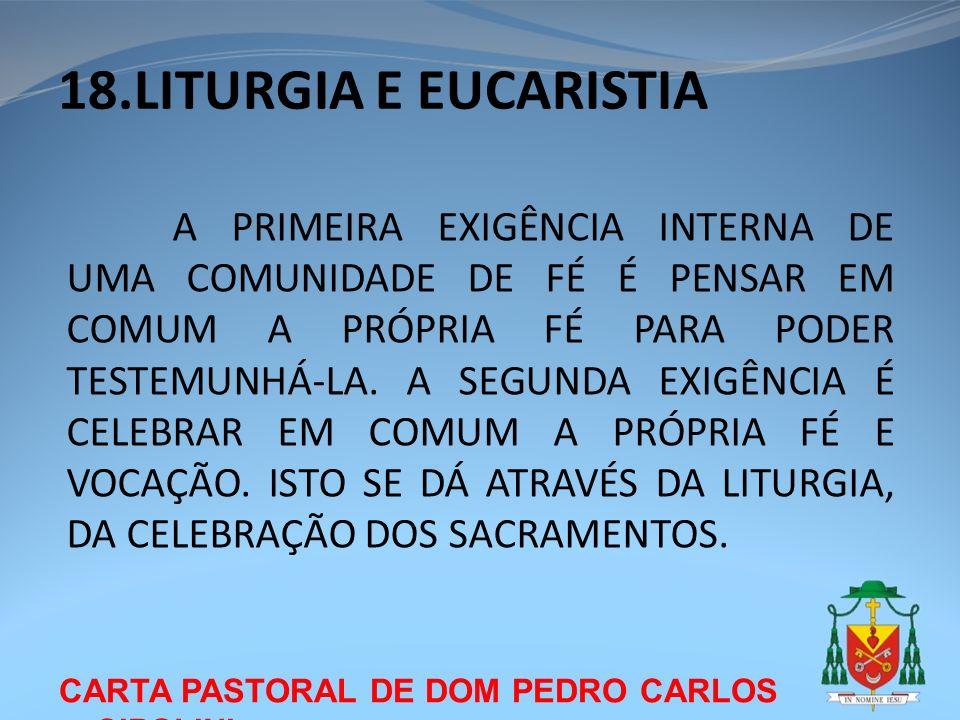 18.LITURGIA E EUCARISTIA