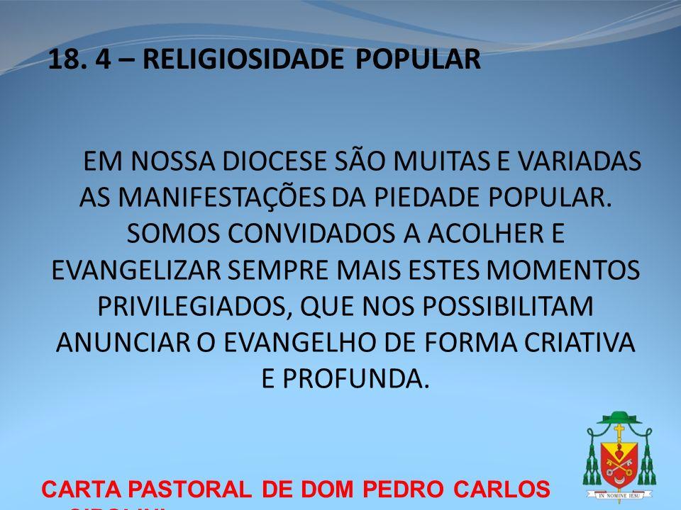 18. 4 – RELIGIOSIDADE POPULAR