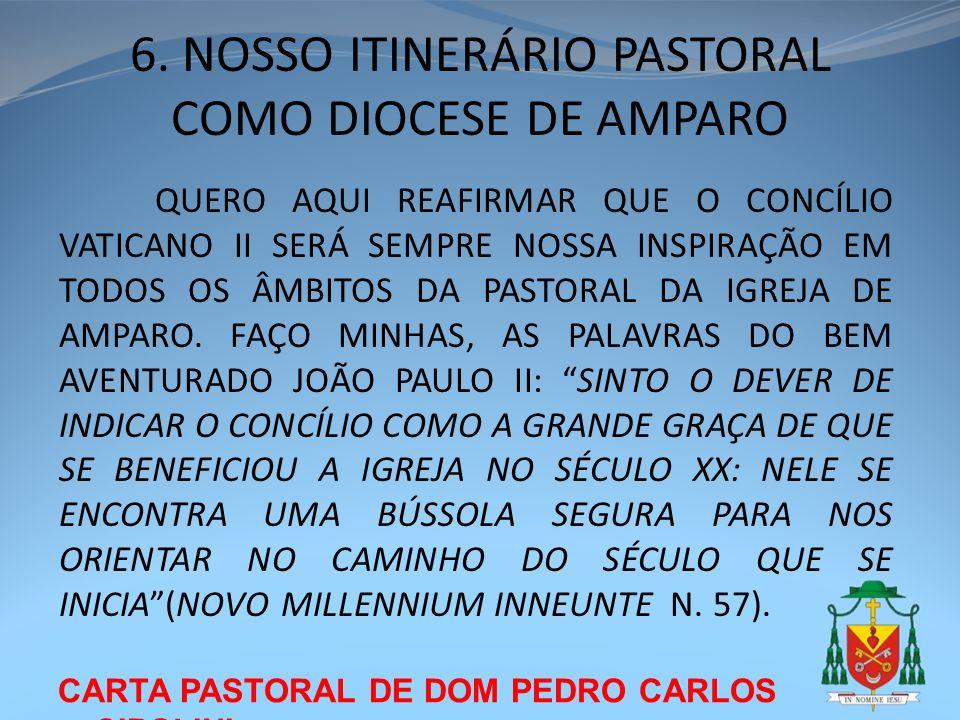 6. NOSSO ITINERÁRIO PASTORAL COMO DIOCESE DE AMPARO