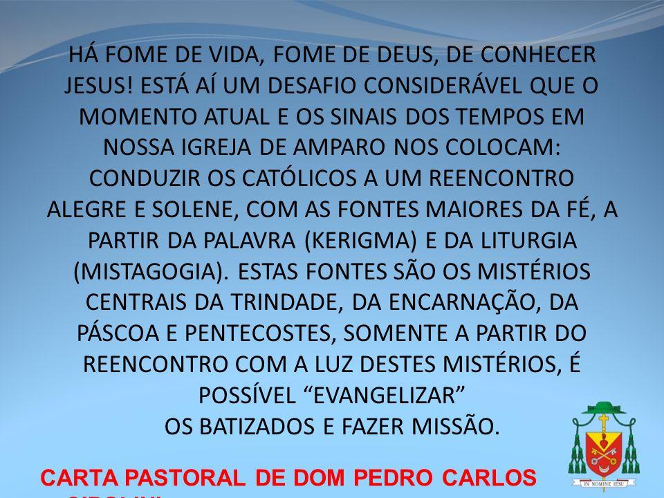 OS BATIZADOS E FAZER MISSÃO.