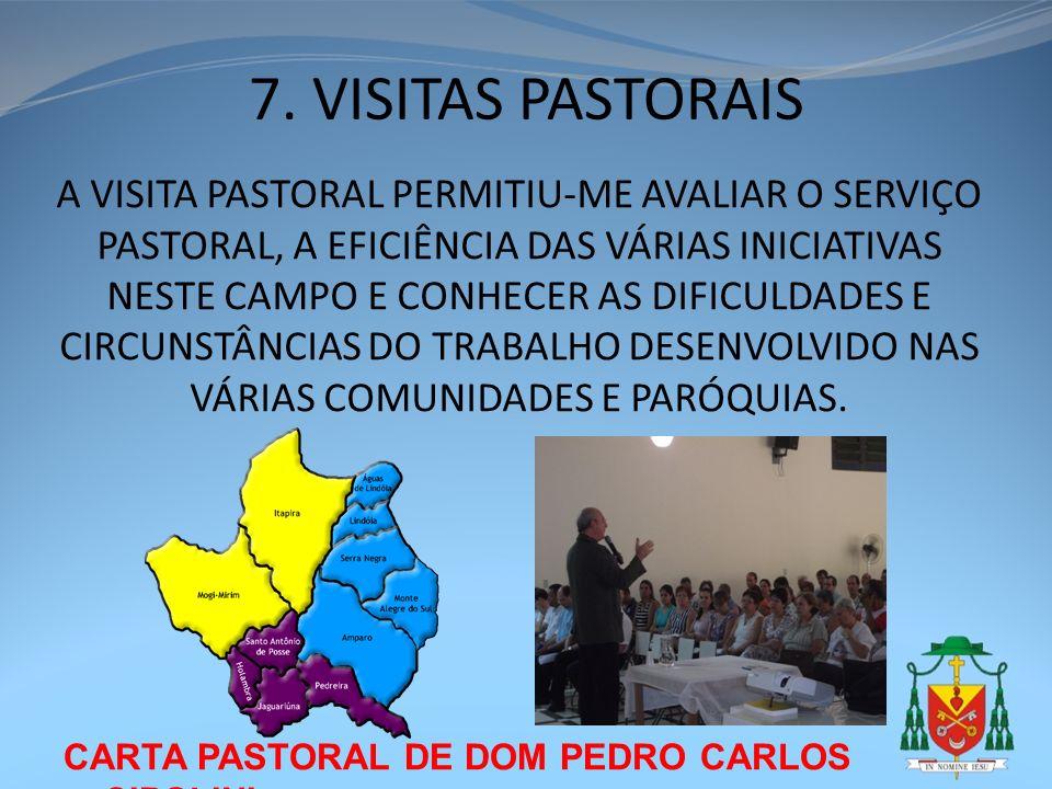 7. VISITAS PASTORAIS