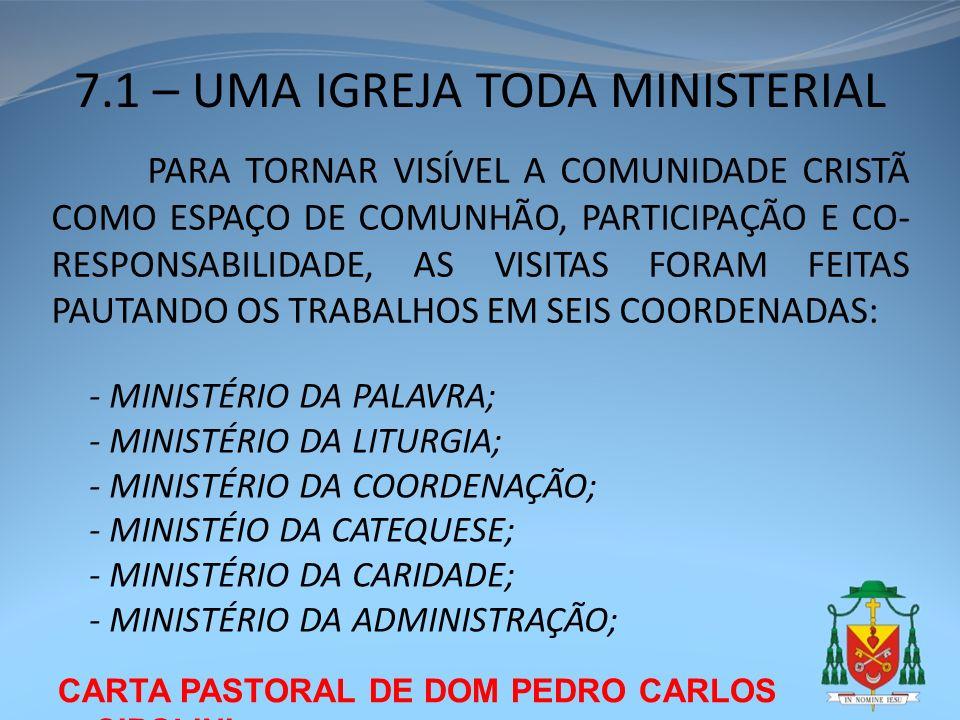 7.1 – UMA IGREJA TODA MINISTERIAL