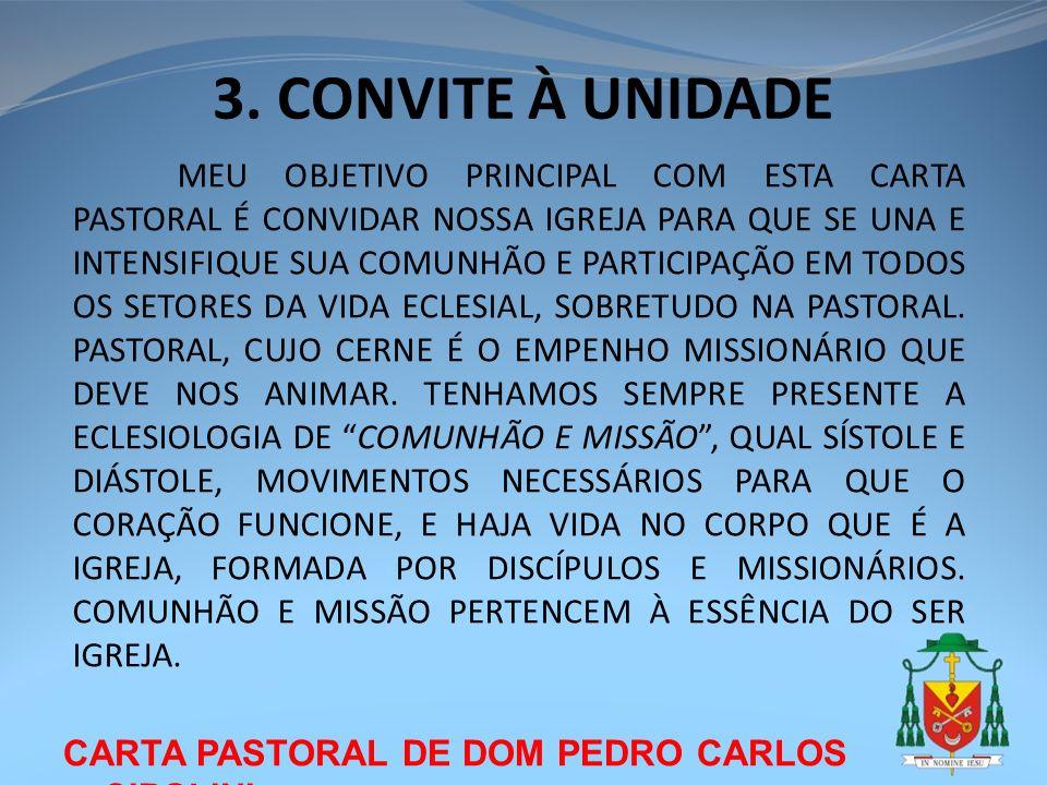 3. CONVITE À UNIDADE