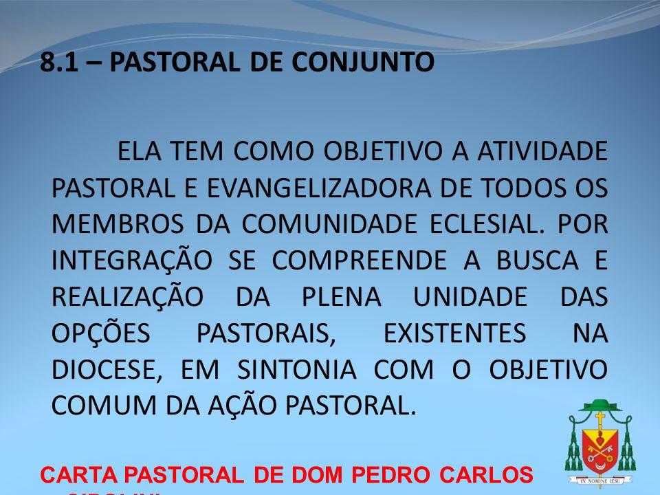 8.1 – PASTORAL DE CONJUNTO