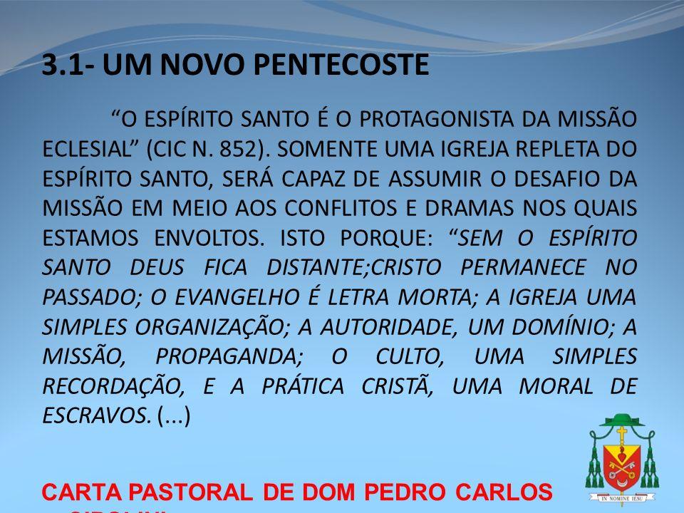 3.1- UM NOVO PENTECOSTE CARTA PASTORAL DE DOM PEDRO CARLOS CIPOLINI