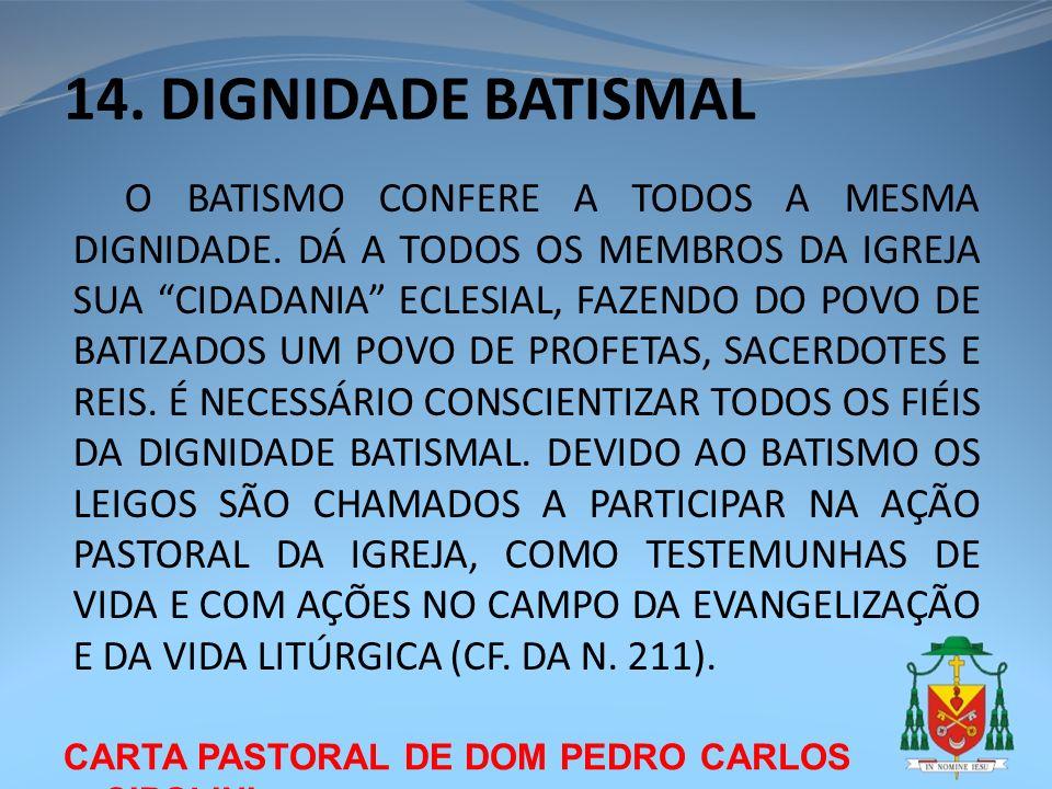 14. DIGNIDADE BATISMAL