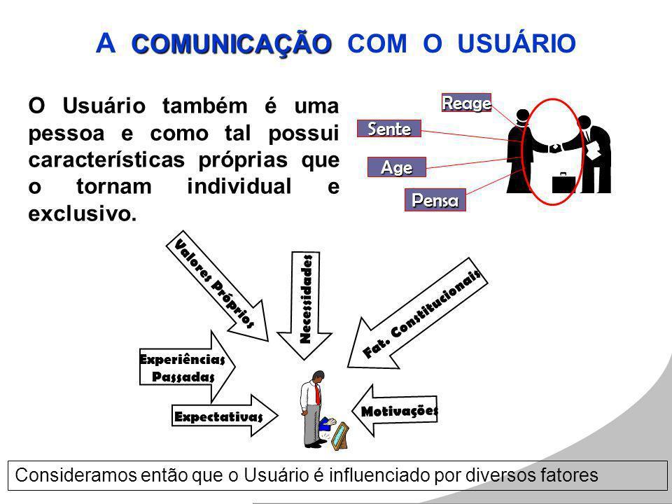 A COMUNICAÇÃO COM O USUÁRIO