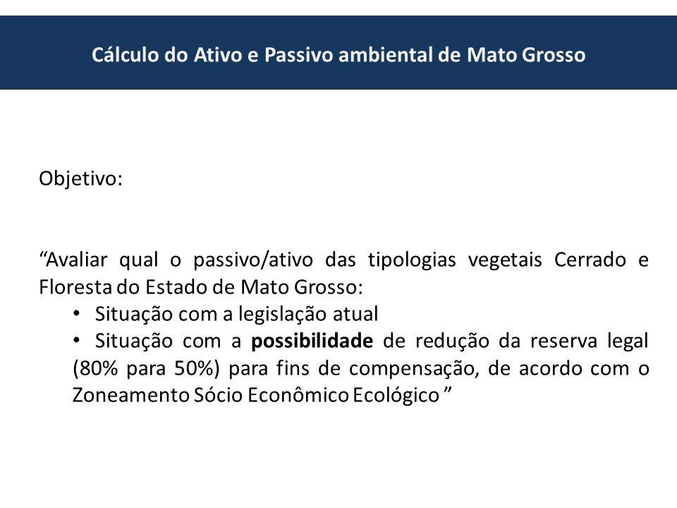 Cálculo do Ativo e Passivo ambiental de Mato Grosso