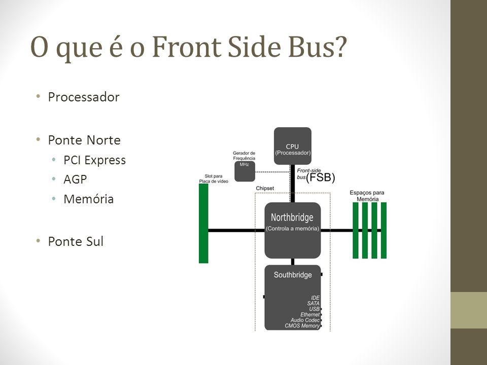 O que é o Front Side Bus Processador Ponte Norte Ponte Sul