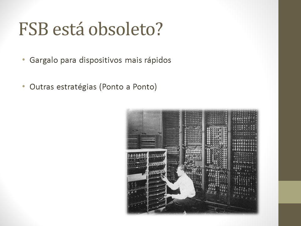 FSB está obsoleto Gargalo para dispositivos mais rápidos