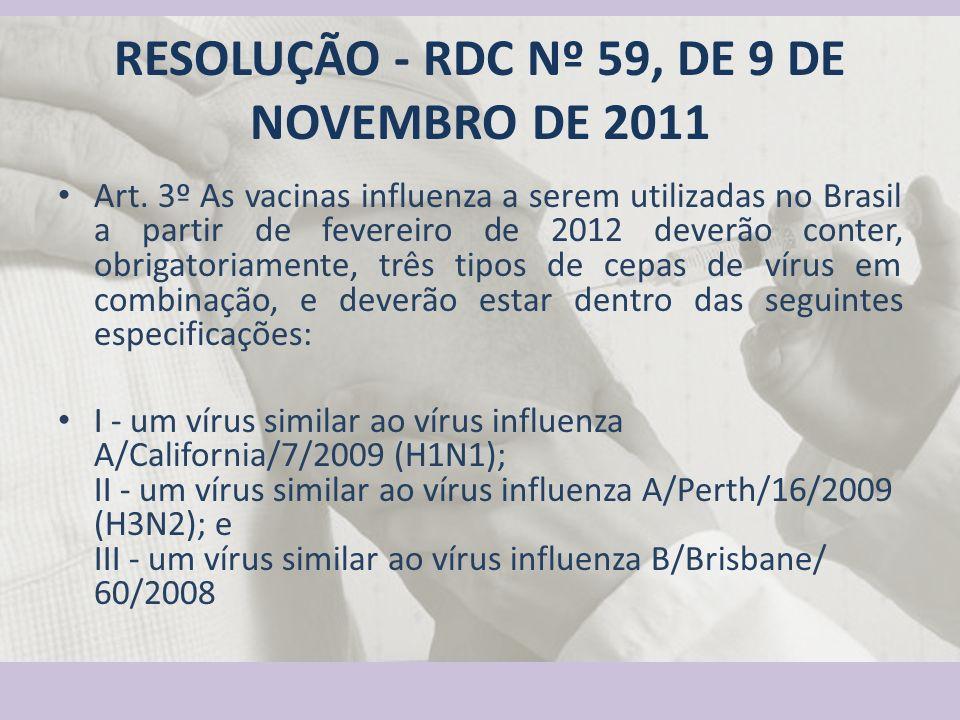 RESOLUÇÃO - RDC Nº 59, DE 9 DE NOVEMBRO DE 2011