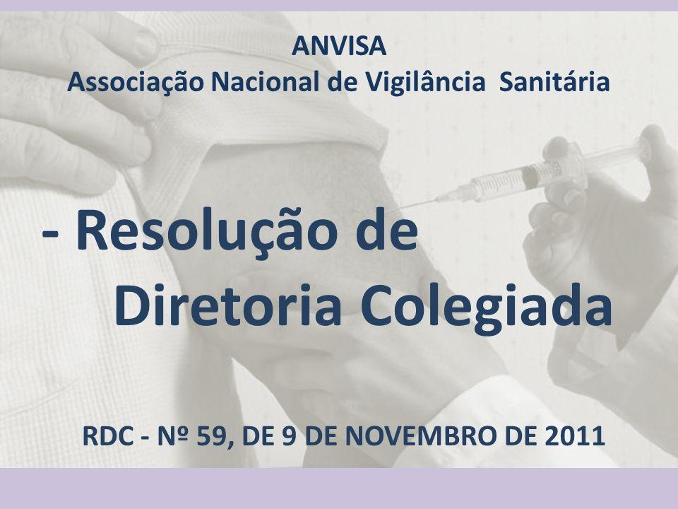 ANVISA Associação Nacional de Vigilância Sanitária