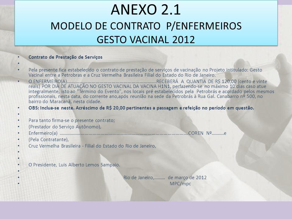 ANEXO 2.1 MODELO DE CONTRATO P/ENFERMEIROS GESTO VACINAL 2012