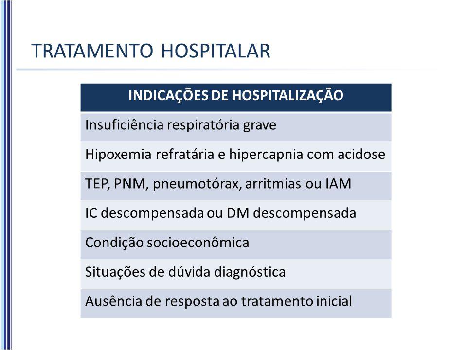 TRATAMENTO HOSPITALAR