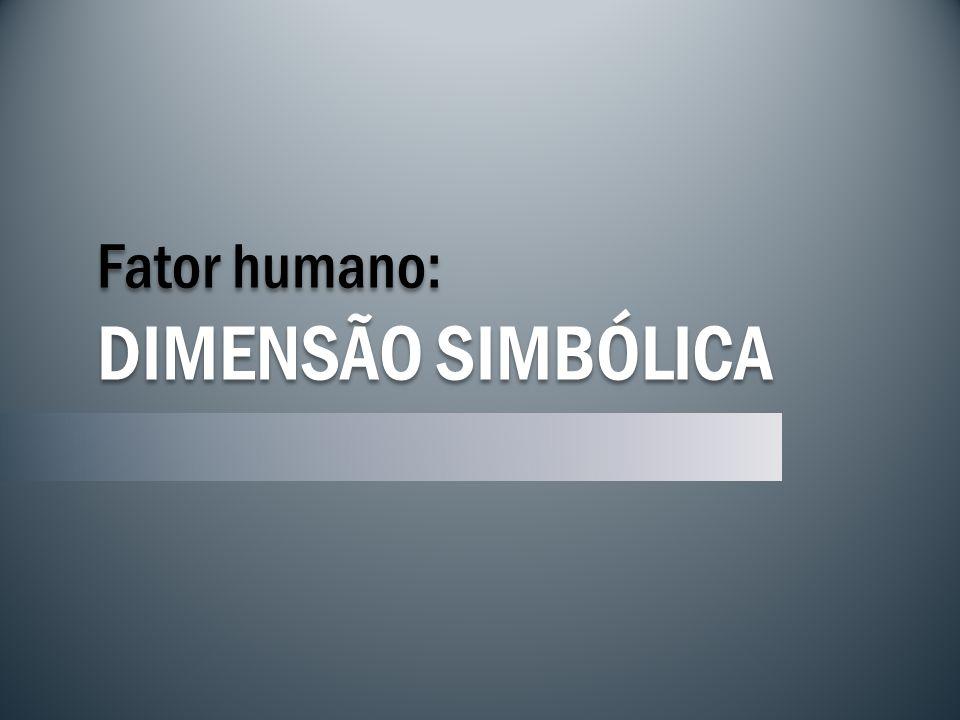 Fator humano: DIMENSÃO SIMBÓLICA