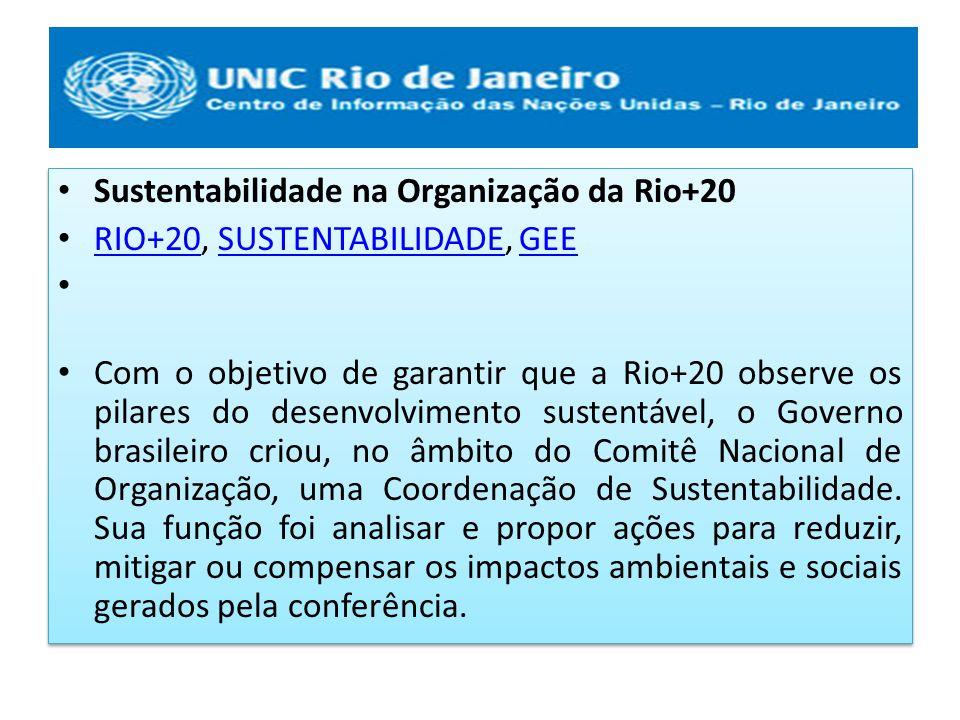 Sustentabilidade na Organização da Rio+20
