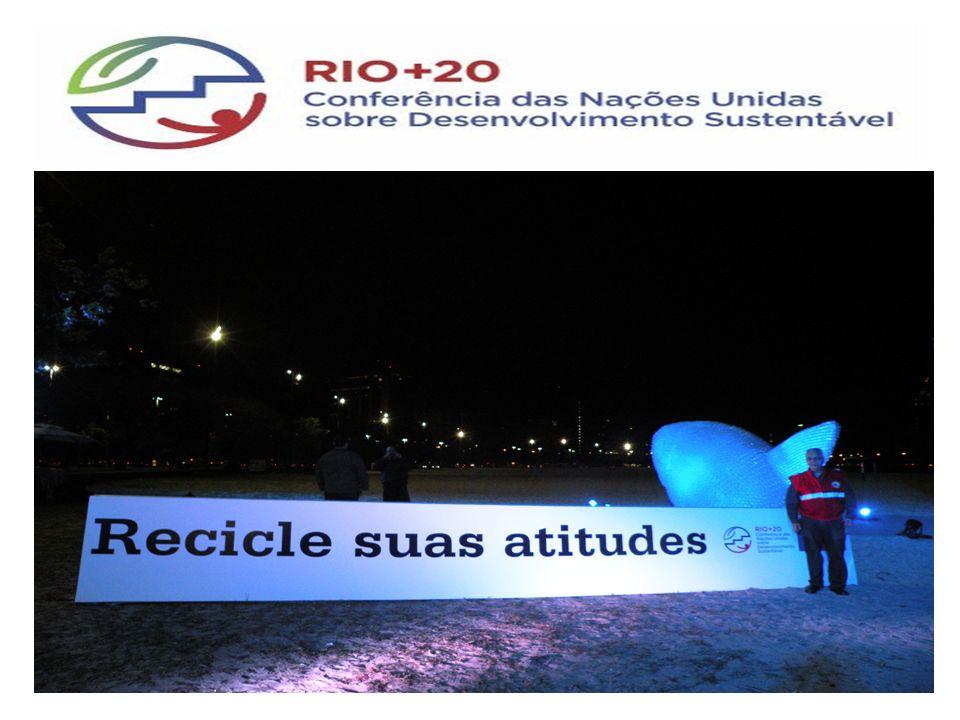 Espaço Recicle suas Atitudes - Prefeitura Rio – Rio + 20 Local Enseada de Botafogo – Junho de 2012