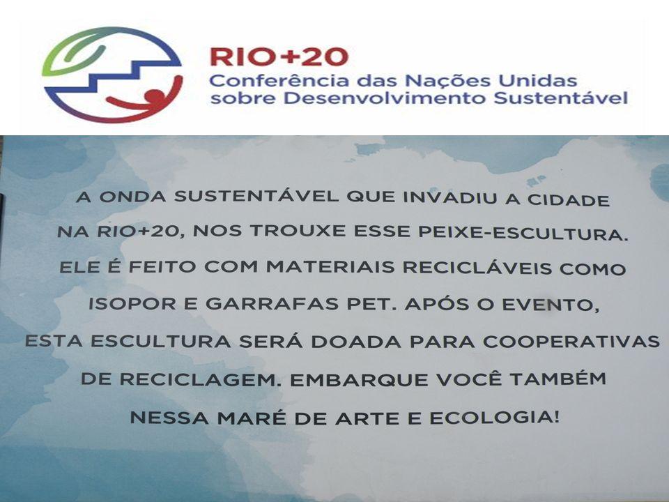 Cartaz ao Lado das Esculturas – Orientação Explicativa – Apoio Prefeitura do RJ – Junho de 2012