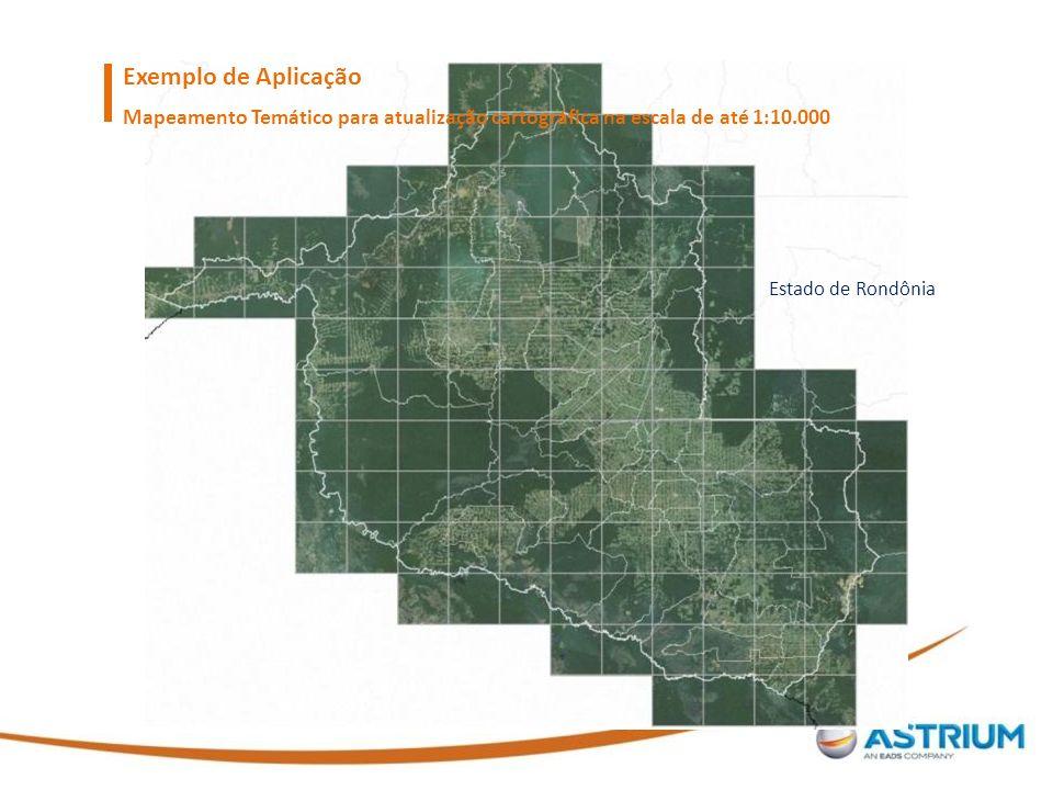 Exemplo de Aplicação Mapeamento Temático para atualização cartográfica na escala de até 1:10.000.