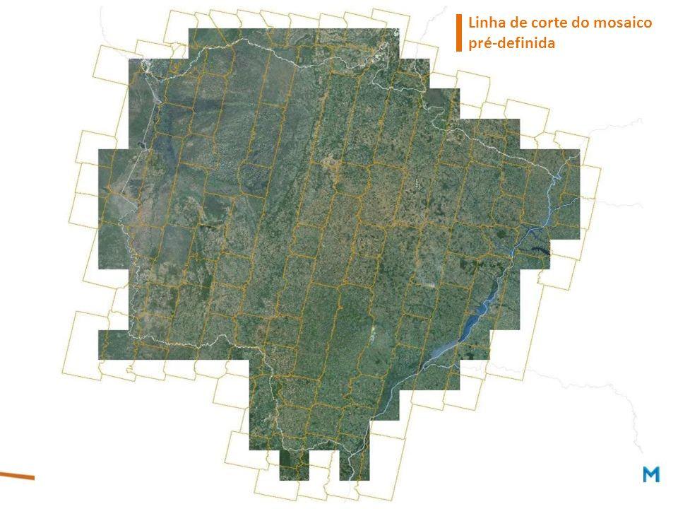 Linha de corte do mosaico pré-definida
