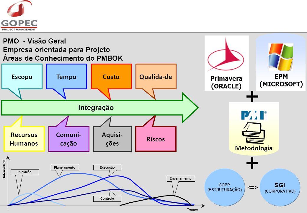 EPM (MICROSOFT) PMO - Visão Geral Empresa orientada para Projeto Áreas de Conhecimento do PMBOK. Primavera.