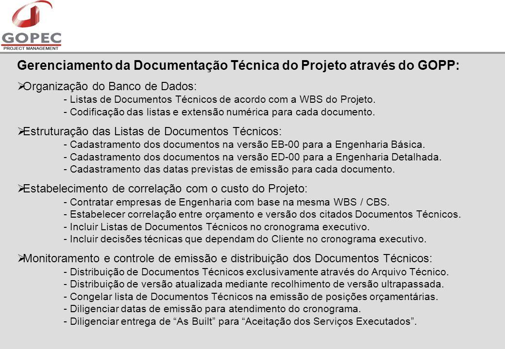 Gerenciamento da Documentação Técnica do Projeto através do GOPP: