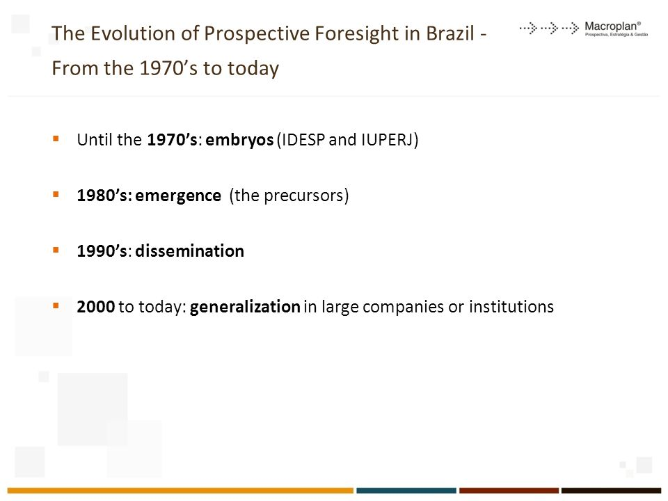 The Evolution of Prospective Foresight in Brazil - From the 1970's to today