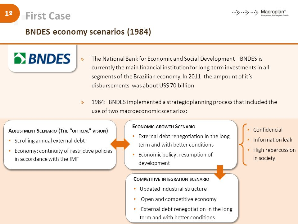 First Case BNDES economy scenarios (1984)