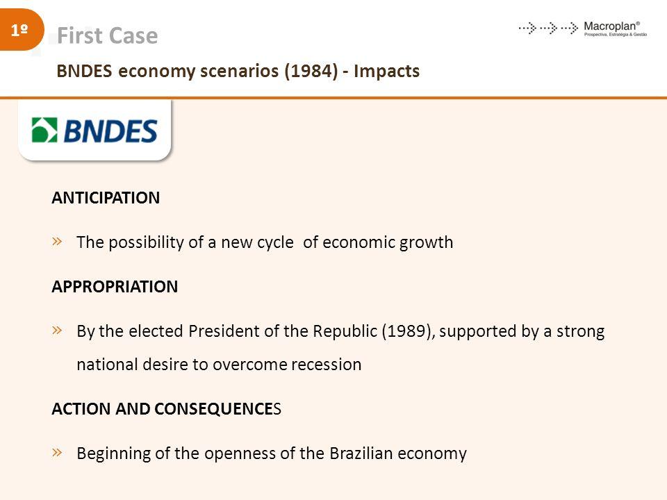 First Case BNDES economy scenarios (1984) - Impacts