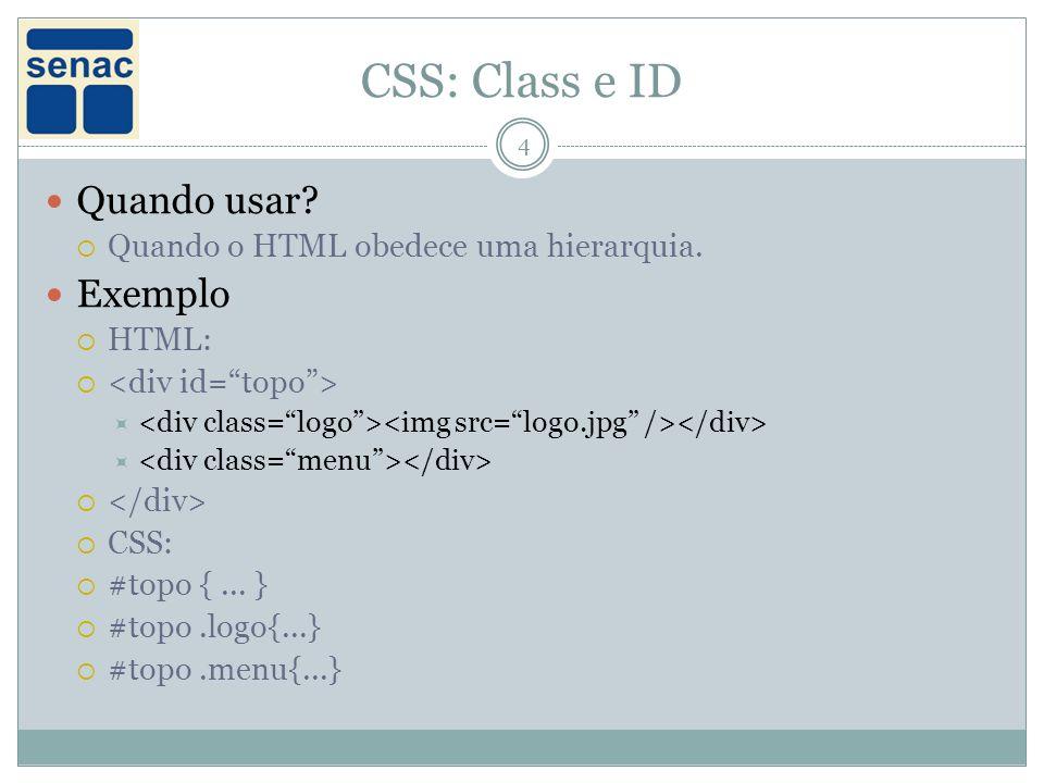 CSS: Class e ID Quando usar Exemplo