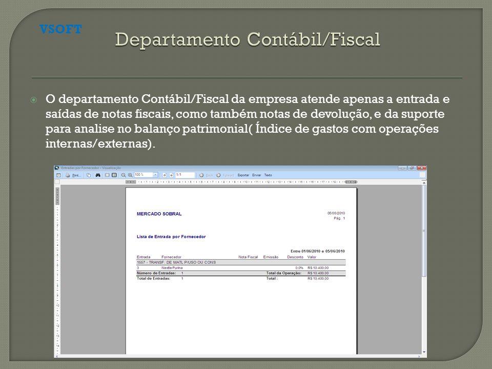 Departamento Contábil/Fiscal