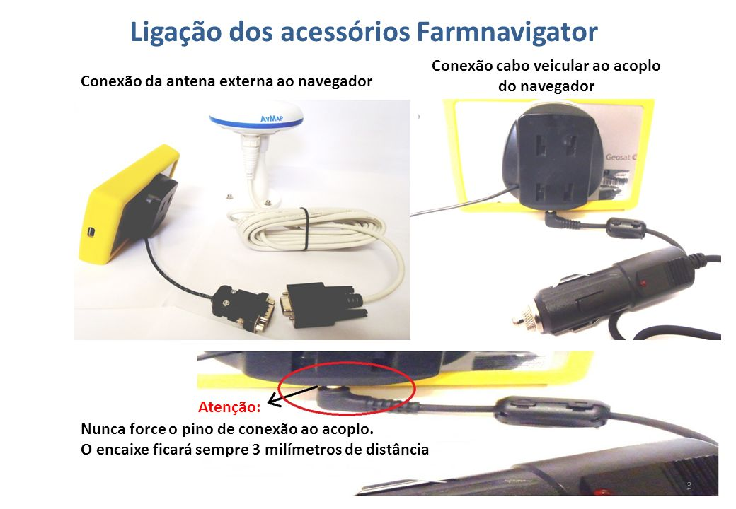 Ligação dos acessórios Farmnavigator