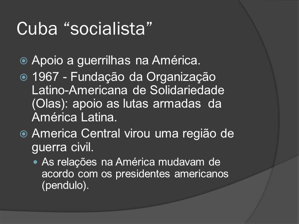 Cuba socialista Apoio a guerrilhas na América.