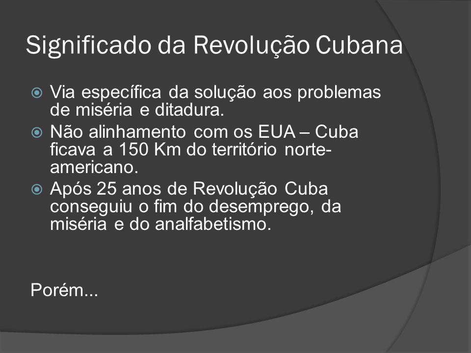 Significado da Revolução Cubana