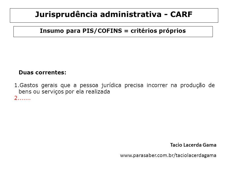 Jurisprudência administrativa - CARF